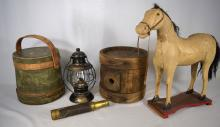 MISC. 19TH C FIVE PIECE GROUPING: