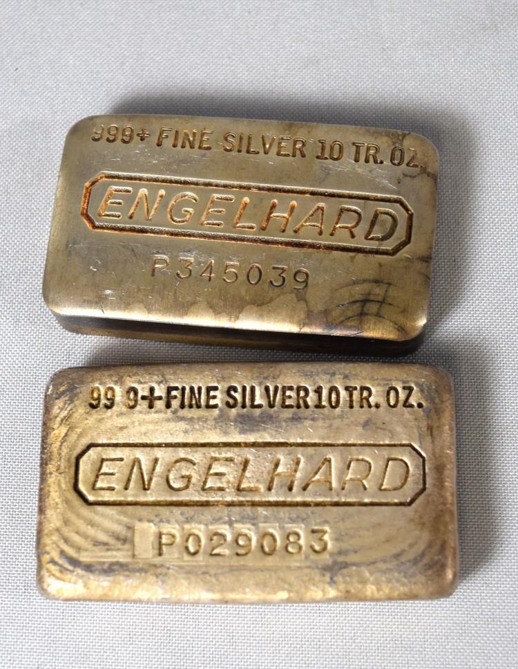 Two 999 Fine Silver Ingots