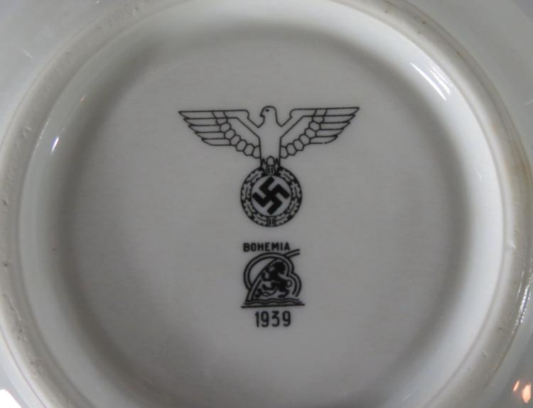 TWENTY ONE GERMAN LUFTWAFFE PORCELAIN MESS HALL DINNERWARE