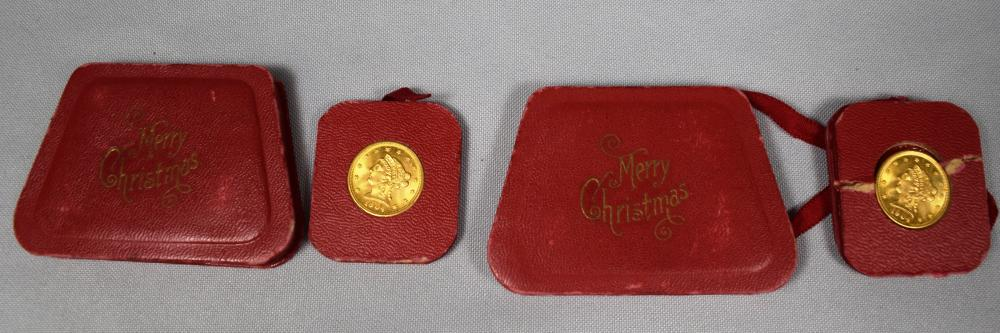 TWO 1904 US GOLD 2 ½ DOLLAR COINS: