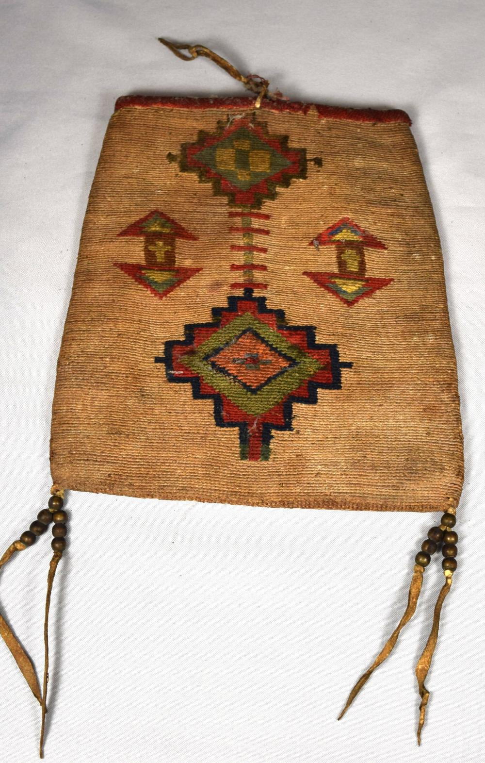 NATIVE AMERICAN WOVEN POUCH: