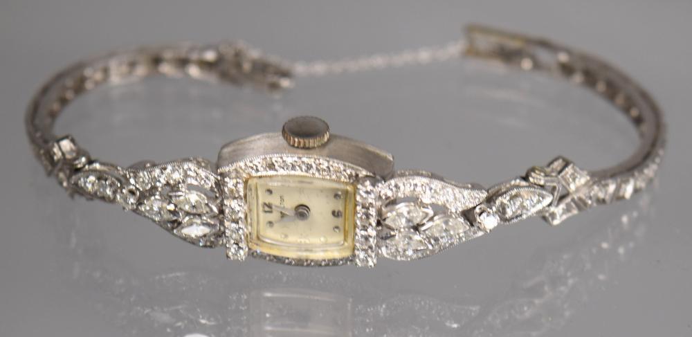 HAMILTON LADY'S DIAMOND COCKTAIL WATCH: