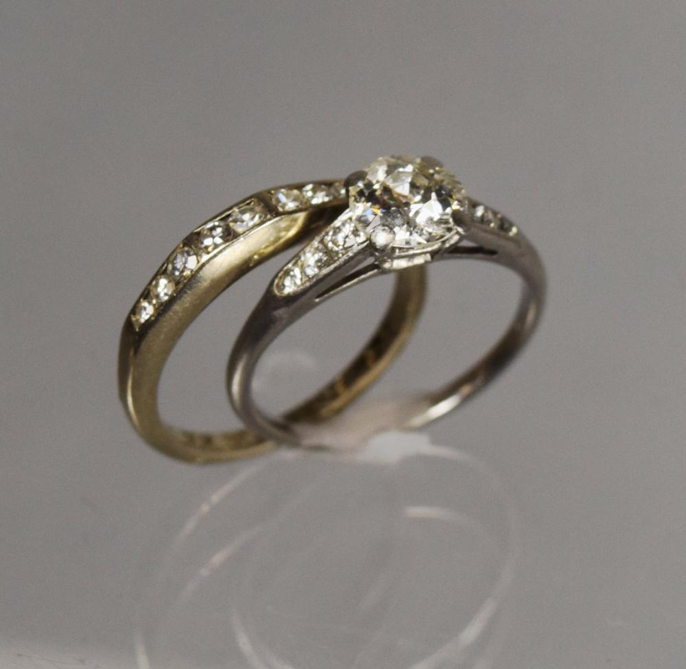 LADY'S DIAMOND RINGS WEDDING SET:
