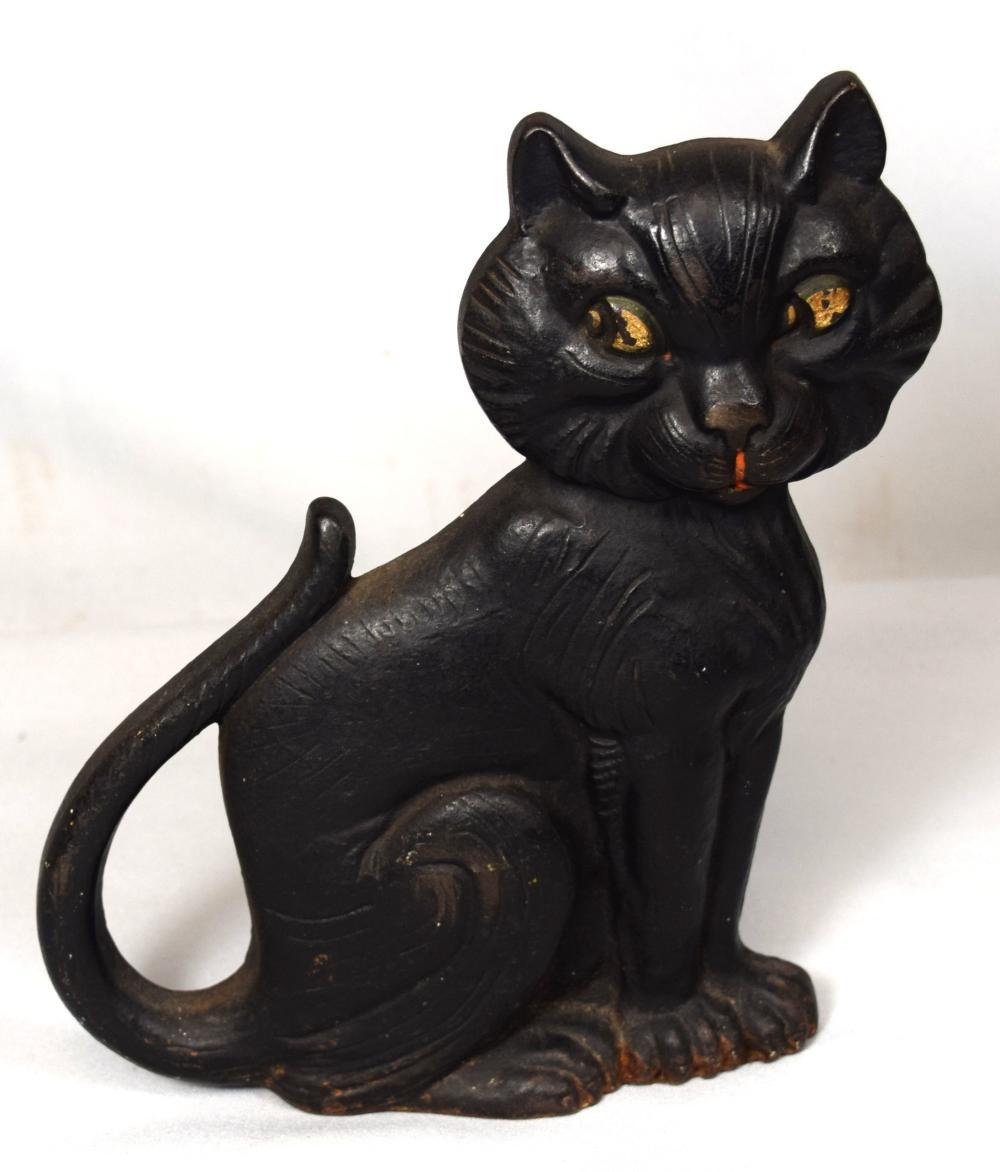 WHIMSICAL CAT DOORSTOP: