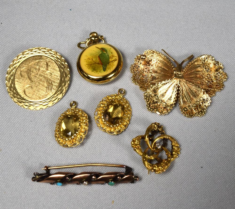 ASSEMBLED 14KT GOLD JEWELRY: