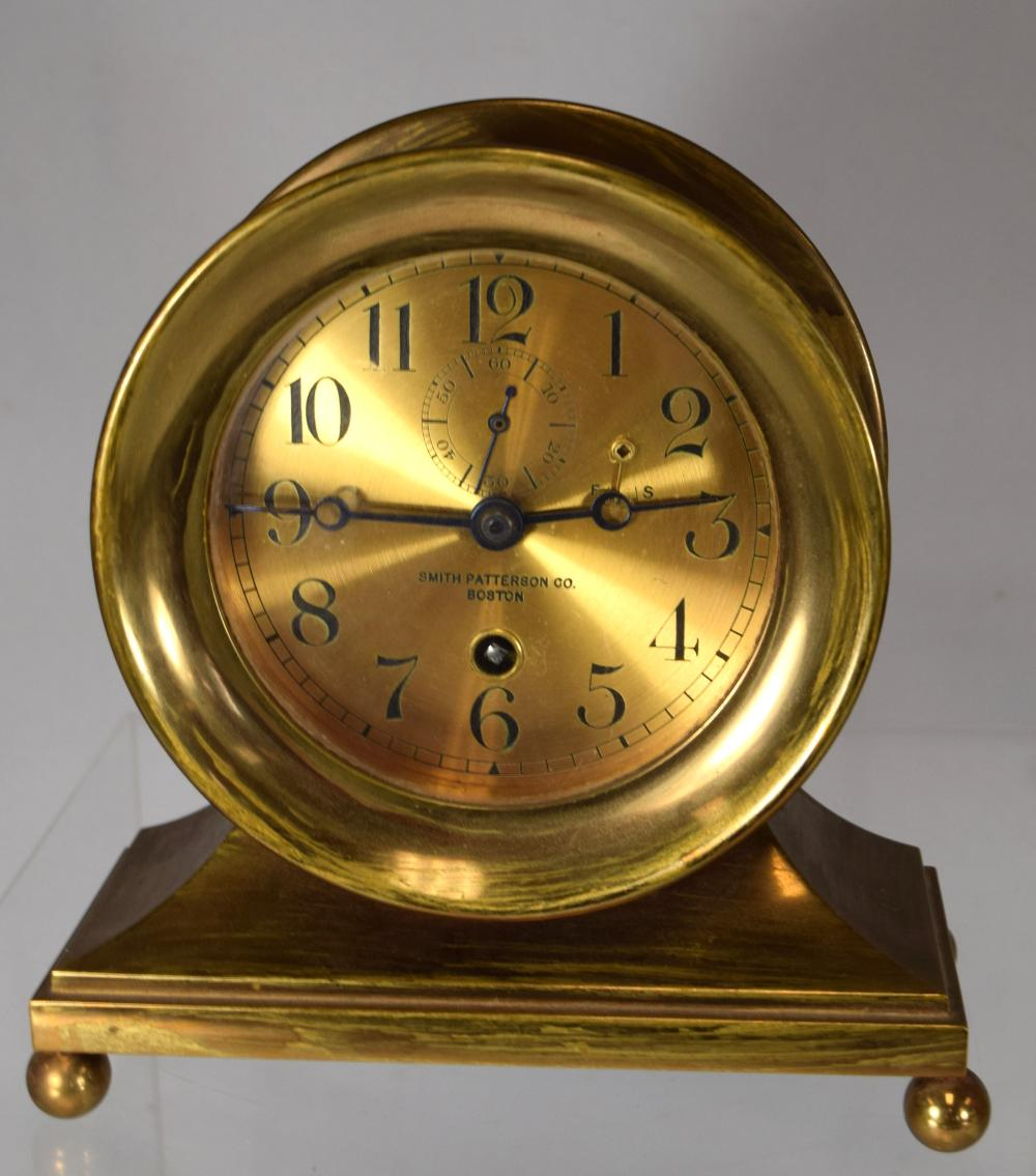 SMITH PATTERSON BRONZE or BRASS CLOCK: