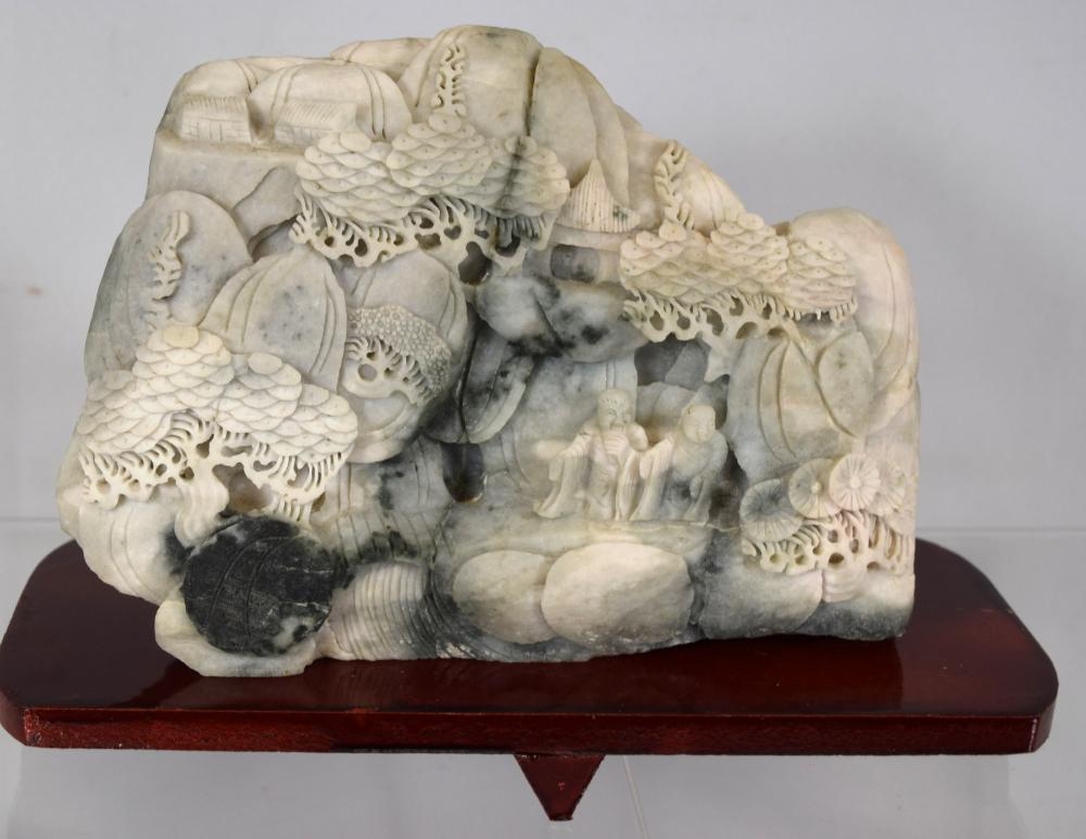 CHINESE MOUNTAIN SOAPSTONE CARVING: