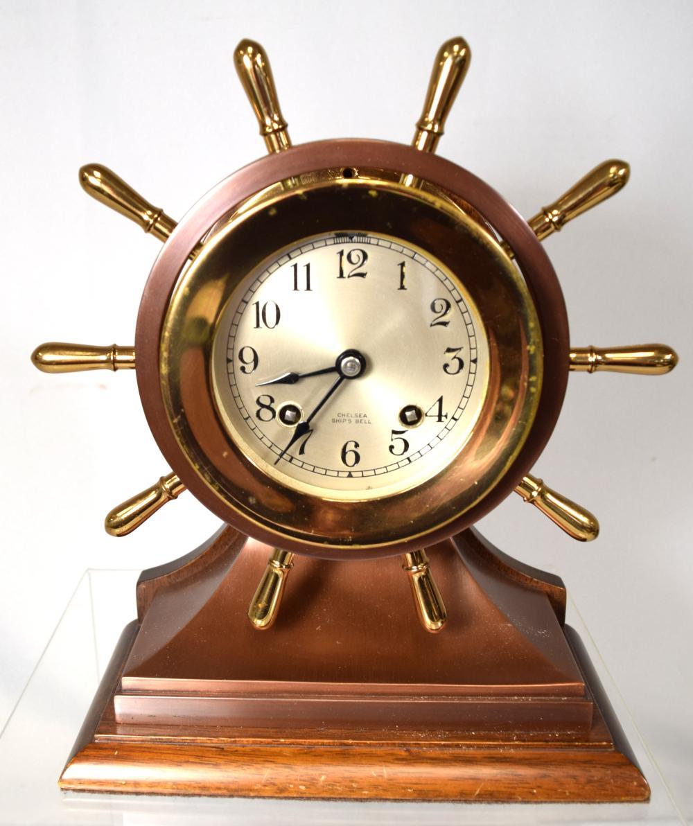 CHELSEA SHIP BELL CLOCK: