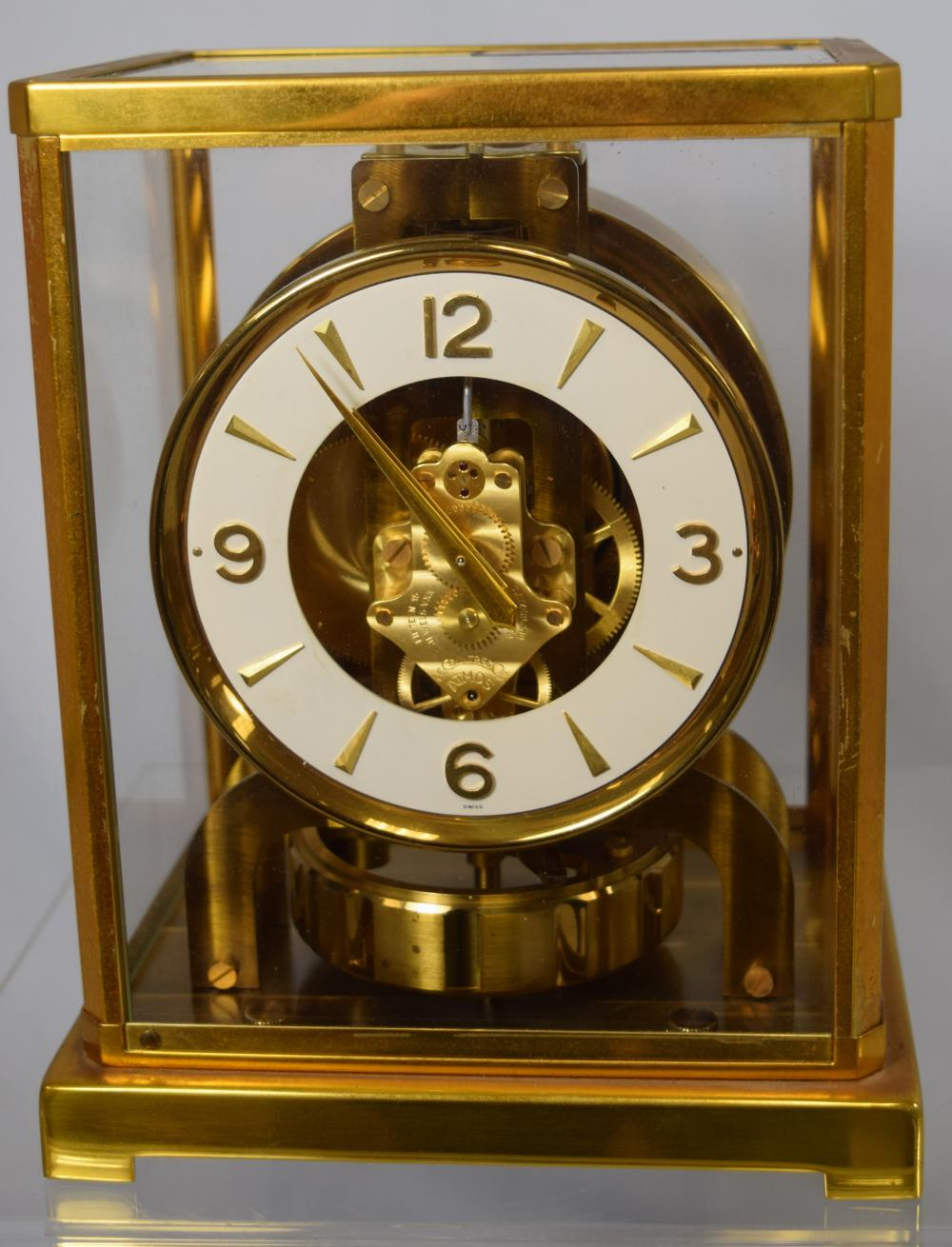 LE COULTRE ATMOS BRASS & GLASS CLOCK: