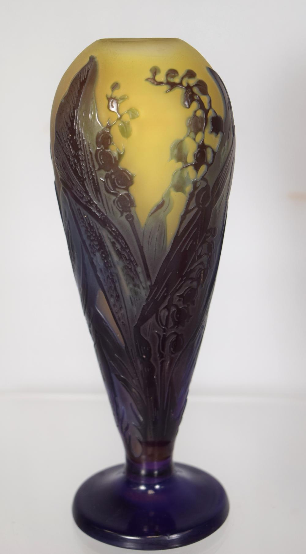 """EMILE GALLE """"LILY OF THE VALLEY"""" VASE:"""