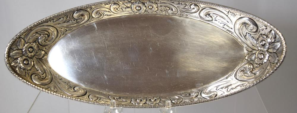 A HOWARD & COMPANY STERLING SILVER DISH: