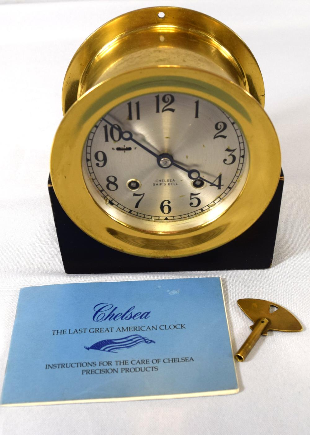 CHELSEA SHIP'S BELL CLOCK: