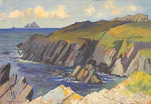 John Skelton (b.1923) THE SKELLIGS SEEN FROM THE