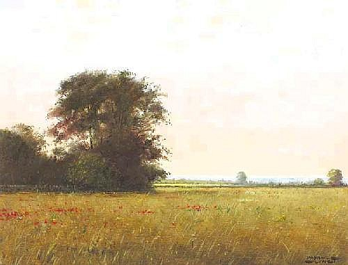 Padraig Lynch (b.1940) POPPIES IN THE MARSH FIELD,