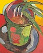 Michael Kane (b.1935) POTTED PLANT signed and dated [1982] lower left oil on canvas 33 by 28cm., 13 by 11in.
