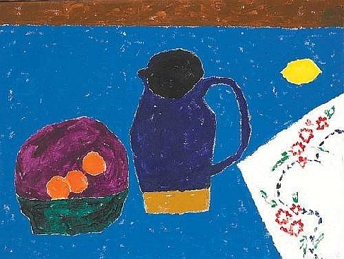 Stephen Cullen (b.1959) STILL LIFE WITH BLUE JUG signed and dated [1994] lower right oil on canvas 53 by 71cm., 21 by 28in.