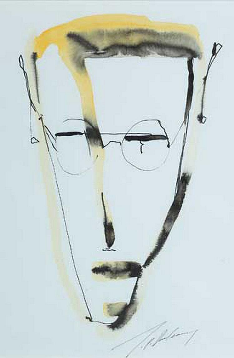 J. P. Donleavy (b.1926) SELF PORTRAIT signed lower