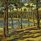 Paul Nietsche 1885-1950 A WOODED BAY signed and dated [1923] lower right oil on canvas 50 by 50cm., 19.5 by 19.5in. Provenance: Private collection,, Paul Nietsche, Click for value