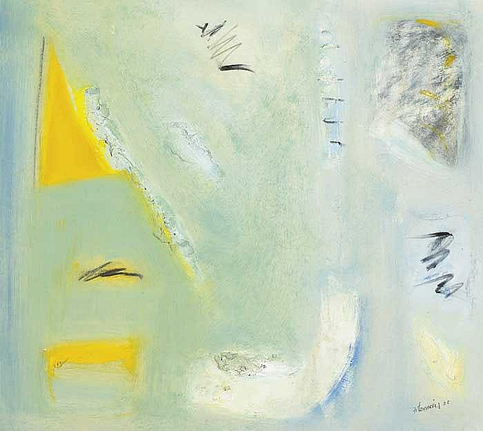 Mike Fitzharris (b.1952) UNTITLED (YELLOW SAILBOATS), 1988