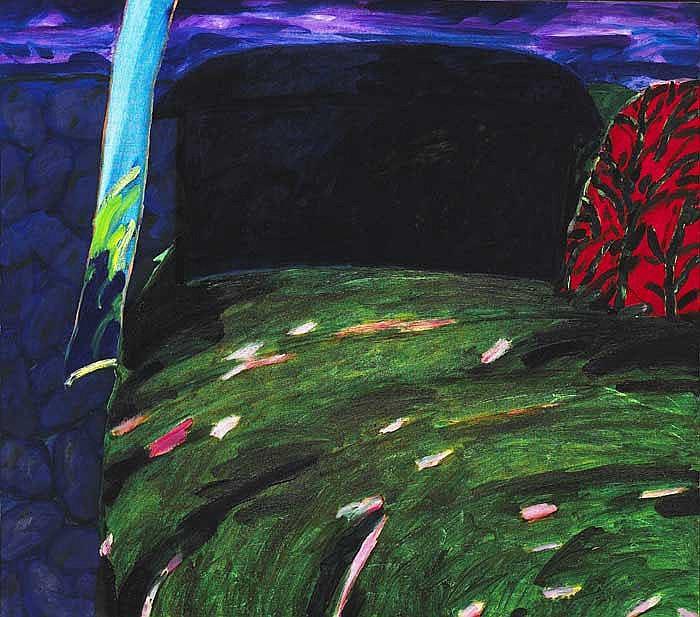 William Crozier HRHA (b.1930) THE DARK BARN, 1988