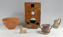 Collection of antiquities including Chinese Han Dynasty stove
