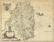 17th Century: Map of Leinster by Johannis Blaeu