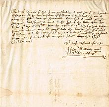 1601 (4 October) Mayor of Barnstaple letter regarding