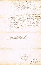 1642 (25 February) Commission for HMS Pennington signed by Northumberland (Lord High Admiral 1638-1642)
