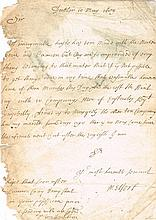 1689 (10 May) Earl of Melfort letter to General Richard Hamilton Jacobite Army Commander at Derry