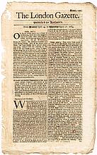 1684-87: Collection of Irish interest issues of The London Gazette including Williamite Wars