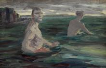 Jack Butler Yeats RHA (1871-1957) OLD MEN BATHING, 1922