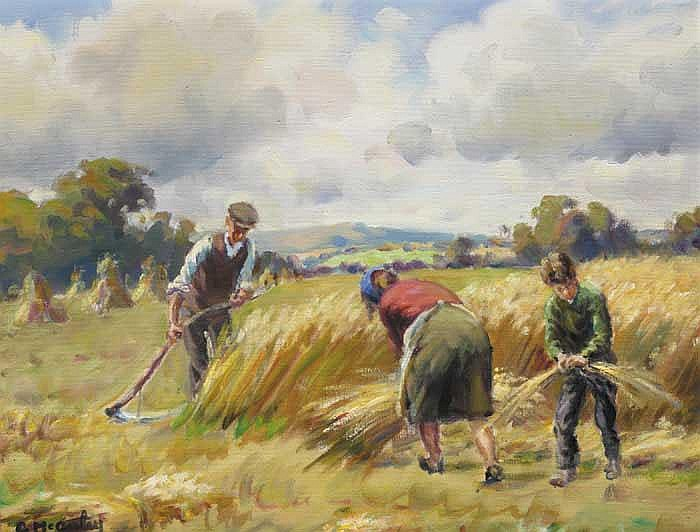 HARVESTING IN THE GLENS, 1977
