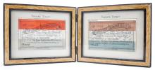 1887 Unionist Demonstration, Dublin, genuine and forged tickets.