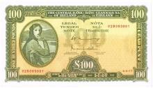 Central Bank 'Lady Lavery' One Hundred Pounds, 4-4-77
