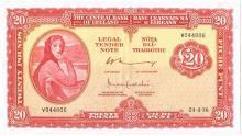 Central Bank 'Lady Lavery' Twenty Pounds, 24-3-76