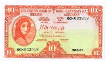 Central Bank 'Lady Lavery' Ten Shillings, 1957-1964 collection