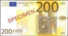 Euro set of SPECIMEN facsimiles Five Euro to Five Hundred Euro.