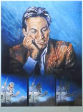 Rolling Stones, 'Blue Charlie', Portrait of Charlie Watts by Ronnie Wood.
