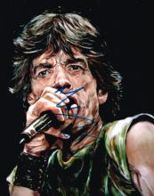 Rolling Stones, signed caricature of Mick Jagger.