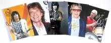 Rolling Stones autographed photographs.