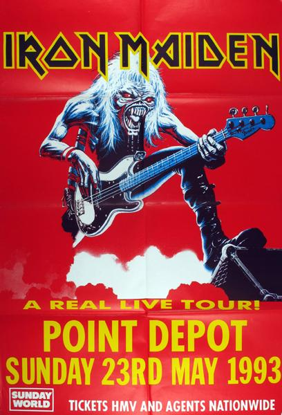iron maiden real live tour concert poster point theatre. Black Bedroom Furniture Sets. Home Design Ideas