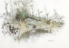 James English RHA (b.1946) ABOVE THE BROOK and THE UPROOTED TREE, 1985 (A PAIR)