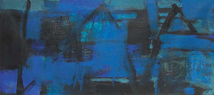 Trevor Bell (b.1930) NIGHT HARBOUR, 1958 signed