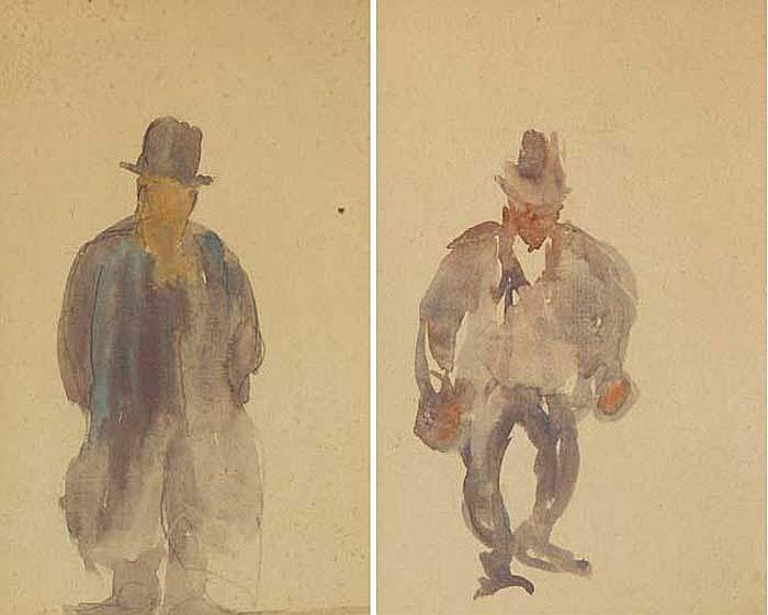 Michael Healy (1873-1941) DUBLINERS (A PAIR)