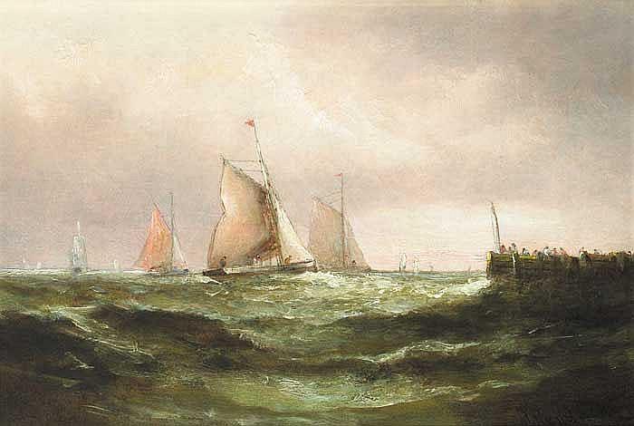 Matthew Kendrick RHA (c.1797-1874) YACHTS OFF A