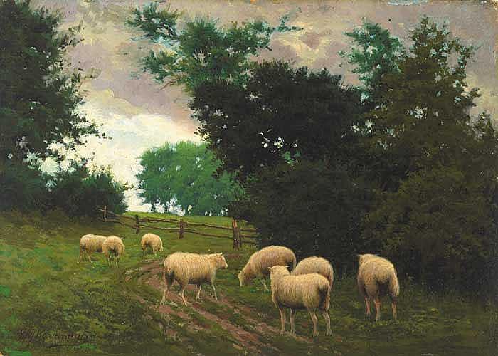 Joseph Malachy Kavanagh RHA (1856-1918) SHEEP