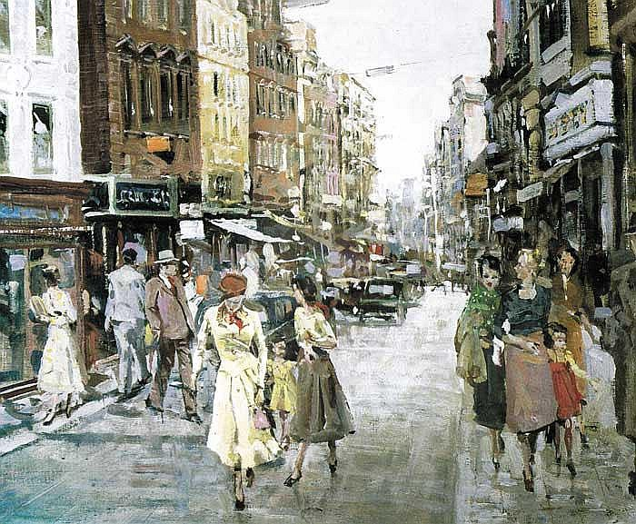 James le Jeune RHA (1910-1983 GRAFTON STREET,