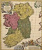 1700: Nicolas Visscher 'Hiberniae Regnum...' map of Ireland