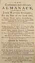 1783, 1807,1829: Watson, Samuel. Almanacks  (3)