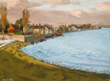 Maurice MacGonigal PPRHA HRA HRSA (1900-1979) SANDYMOUNT STRAND FROM MERRION GATES, DUBLIN